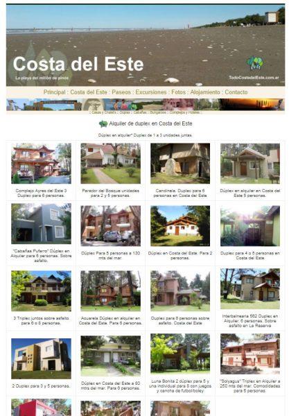 TCDE2018 Costa del Este Alojamiento Ver+Notas
