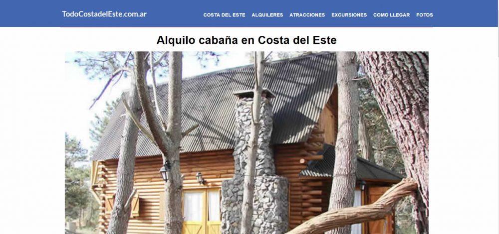 Alquiler de Cabaña en Costa del Este